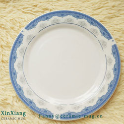 Plain coloured ceramic tableware