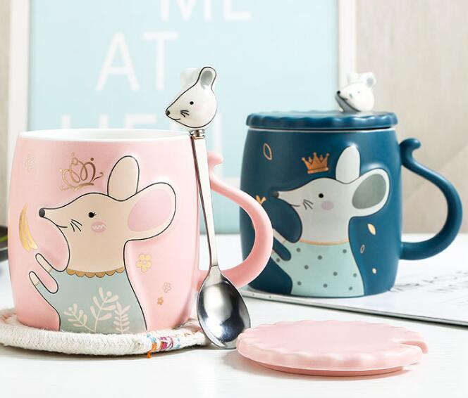 Year of mouse relief cartoon cute mouse Cup Ceramic Mug