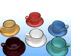 Color glaze cup and saucer ceramic cup and saucer coffee cup and saucer