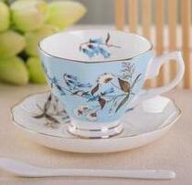 European coffee cup and saucer suit with spoon