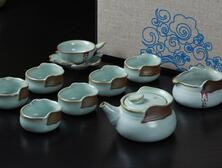 10 head ceramic kungfu tea set