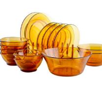 Supply of transparent tempered glass plate, soup bowl and tableware