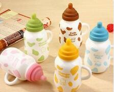Bottle ceramic cup with lid Gourd shaped water cup