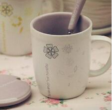 Matte milk cup breakfast cup Flower ceramic mug