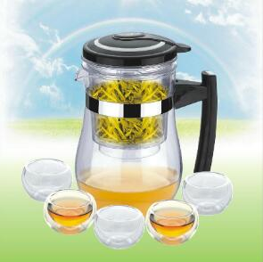 Multifunctional gift cup, glass teapot and teacup
