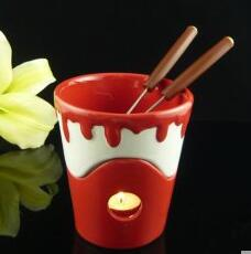 Chocolate fondue  Chocolate hot pot Cup with spoon